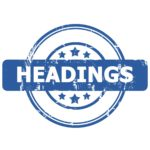 Headings Clause